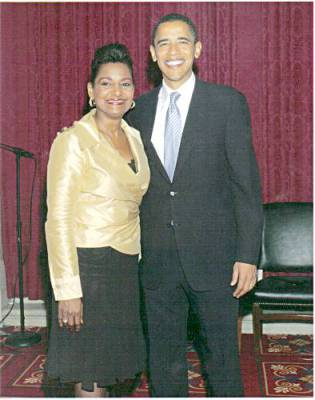 Pam and President Barack Obama