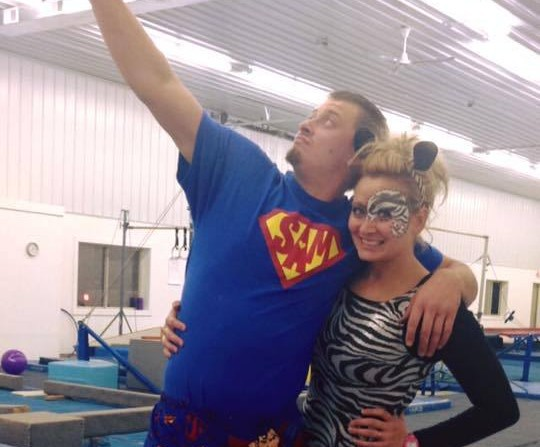 Coach Mike & Miss Bobbi goofing around on Halloween
