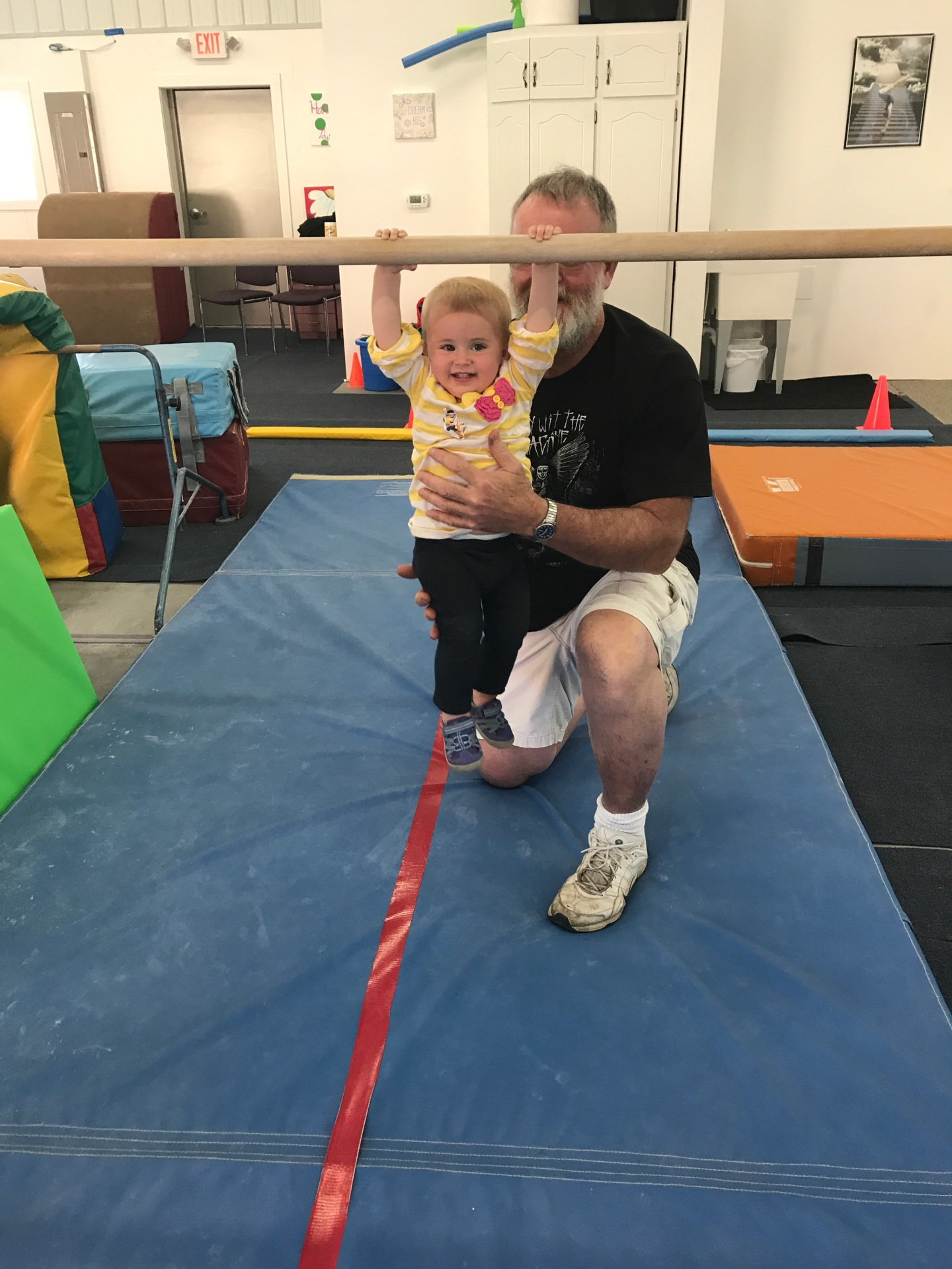 The Future Superstar of Hartford Gymnastics working with Mr. Dale