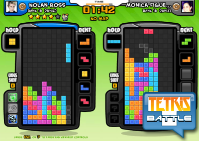 Tetris Battle on Facebook