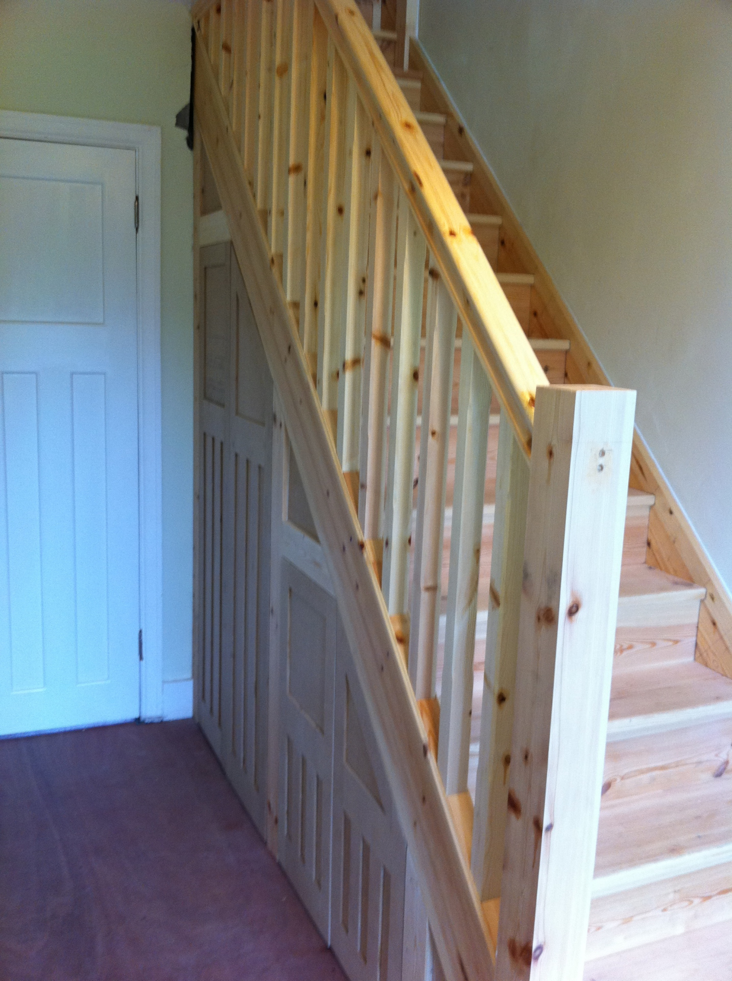 new under stairs storage to match 1930s doors