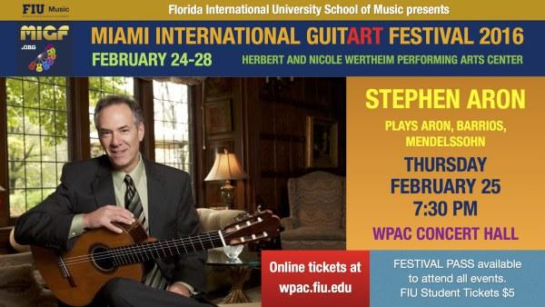 MIGF Concert: Stephen Aron