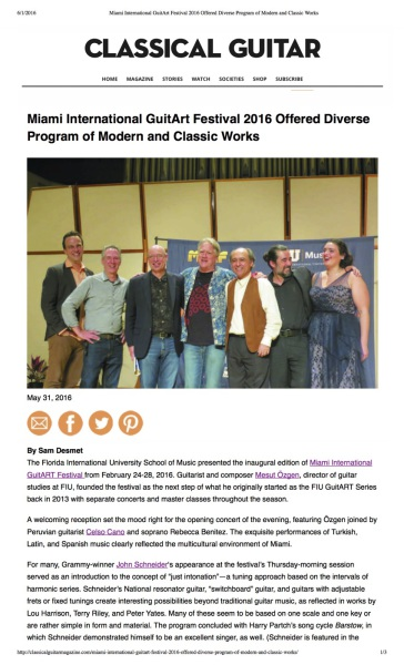 MIGF 2016 Offered Diverse Program of Modern and Classic Works