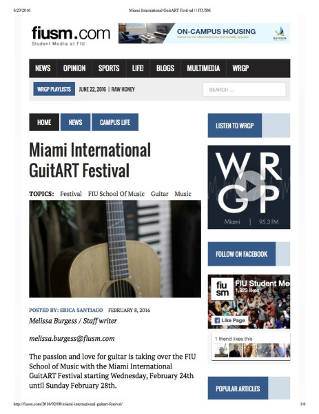 Miami International GuitART Festival