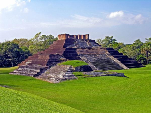 Mayan Brick Pyramid