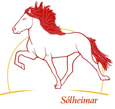 Solheimar Icelandic horse logo