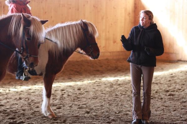 Sigrun Brynjarsdottir teaching a clinic