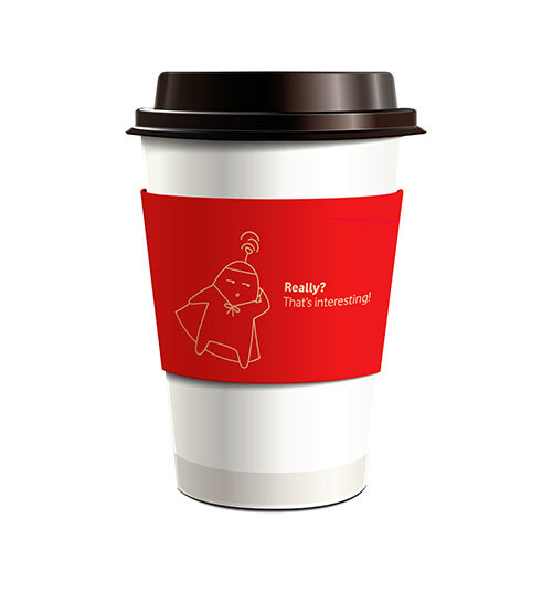 Vodafone | Coffee cup holder