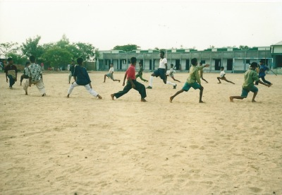 Training session at school grounds