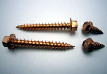 Copper Plated 18-8  Stainless Steel Zip Screw