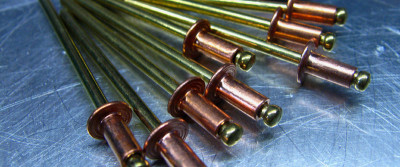 CopperRivet/Brass Mandrel Rivet