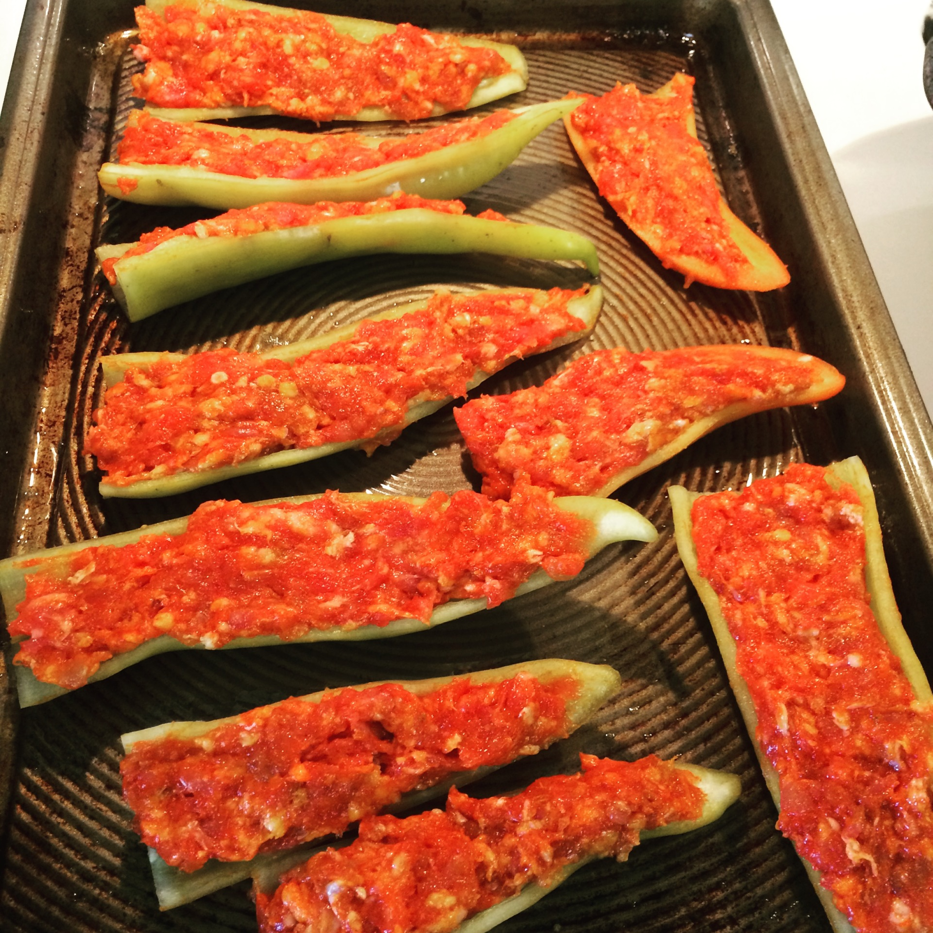 Restaurant Expose:  Stuffed Banana Peppers