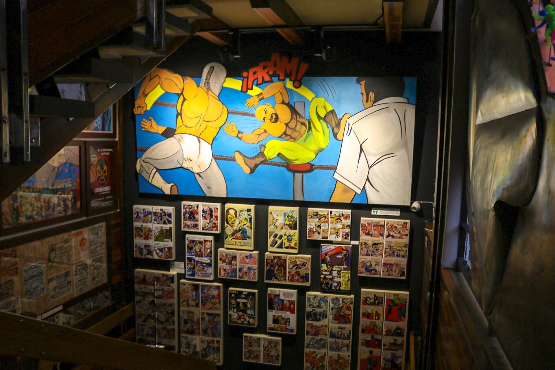Mural Comics de Lucha Libre