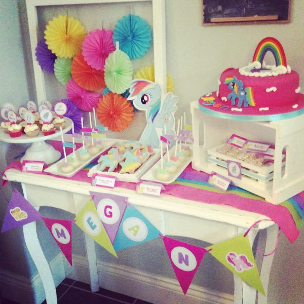 My Little Pony Dessert Table