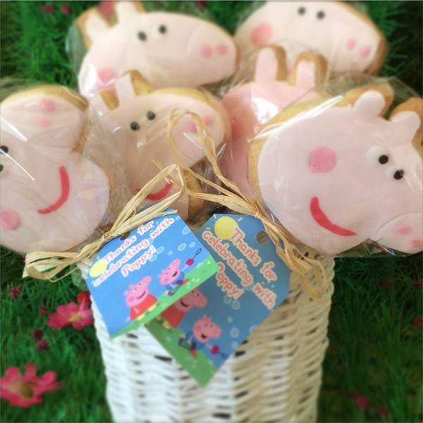 Peppa Pig cookie Favours