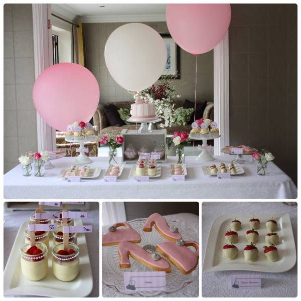 birthday party table shoes and handbag themed