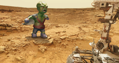 Kid Martian Man Hunter vs. Mars Rover