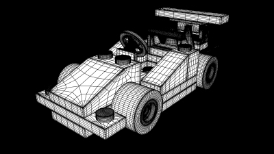 Lego Race Car-- High Poly