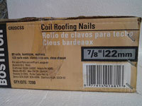 "Bostitch Coil Roofing Nails 7/8"" Length Stainless Steel 7.2M / Box $80.00"