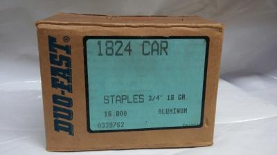 "Duo-Fast Narrow Crown Staples Aluminum 3/4"" 18 Gauge 16M / Box $49.00"
