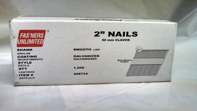 "15 Gauge ""DA"" Angled Nails Galvanized • 1M/ Box 2"" $4.00"