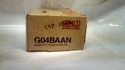 "Senco G04BAAN 1/4"" X 3/8"" 20 GA Galvanized Staple 10M / Box $10.00"