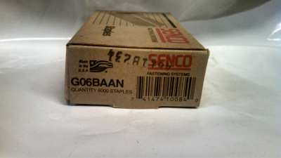"Senco Fastener G06BAAN 20 GA Staple 3/8"" X 3/8"" Leg 5M / Box $7.00"