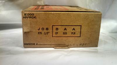 "Senco J08BAAN Galvanized Staples 1/2"" X 7/16"" 5M / Box $10.00"