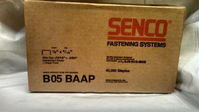 "Senco B05BAAP 5/16"" X 1/2"" 22 GA Galvanized Staple 5M / Box $15.00"