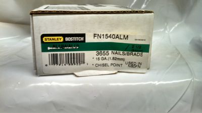"Bostitch FN1540 2-1/2"" 15 GA Aluminum Degree Angled Finish Nail $25.00"