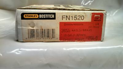 "Bostitch FN1520 1-1/4"" Box of 3600 15 GA Finish Nail Pack $20.00"