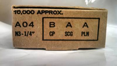 Senco A04BAAN Staple 22 GA 3/16 x 1/4 Galvanized 10M / Box $13.00