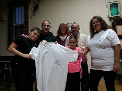 Some of the Bluelighters show off the BLTC tees