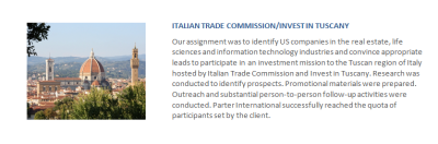 Italian Trade Commission/Tuscany