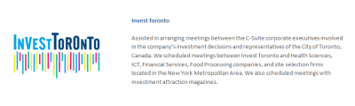 Invest Toronto | Investment Attraction | Parter International Business Consulting