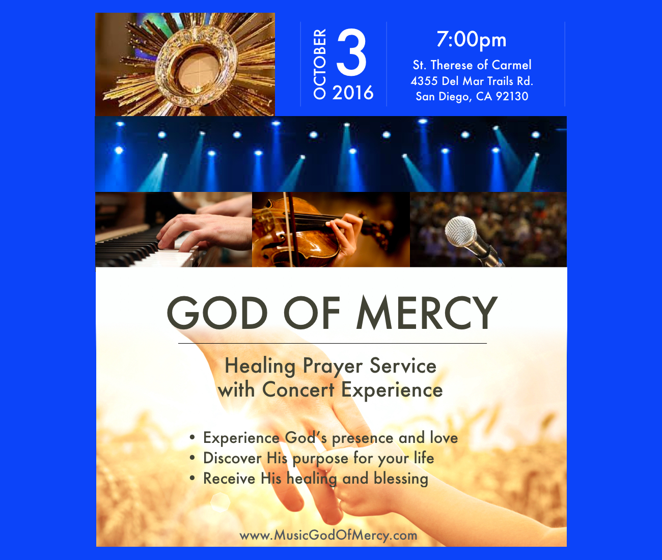 God of Mercy - Prayer and Music Experience (Oct.3, 7pm, Saint Therese of Carmel Church, San Diego,CA
