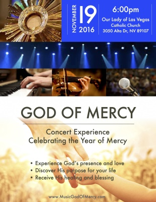 """God of Mercy"" - Concert at Our Lady of Las Vegas Church, Nov. 19th, 2016, Las Vegas"