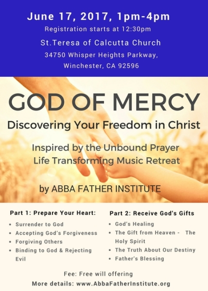 ''God of Mercy''- Inspired by the Unbound Prayer Retreat