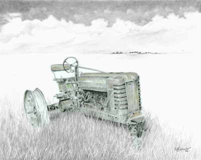 """Rest in Pieces John Deere' graphite"