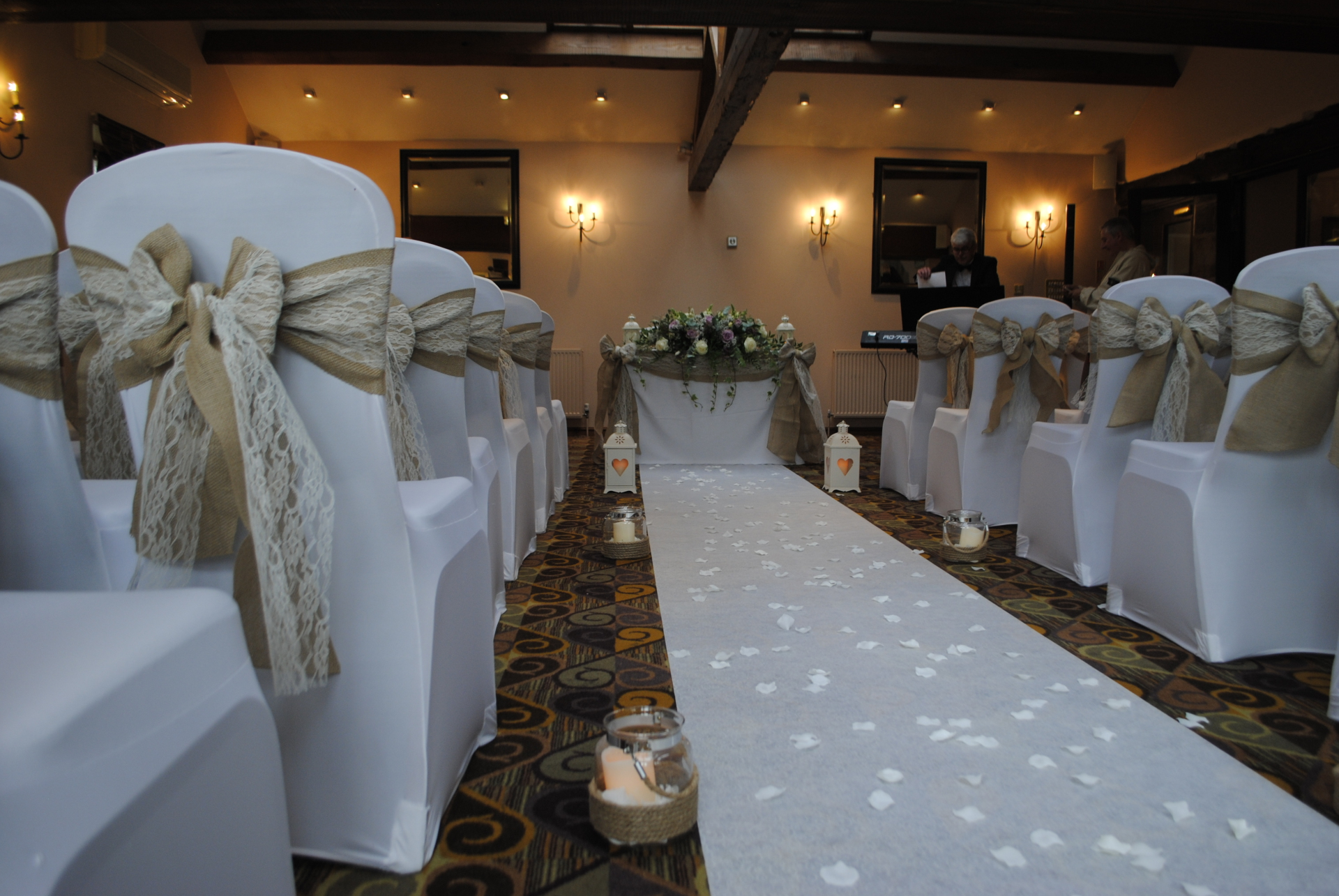 White or Ivory Aisle runner