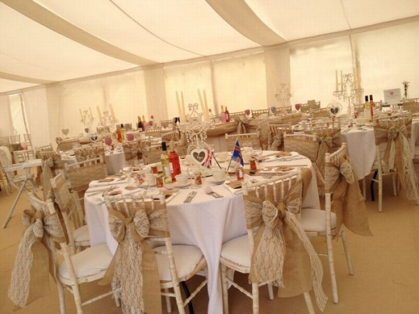 Hessian & Lace sashes
