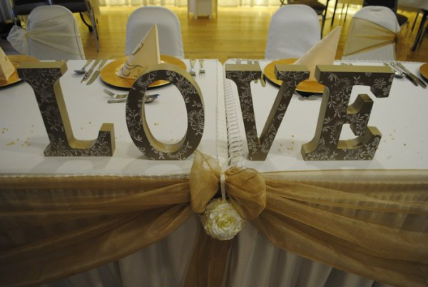 Rustic Love letter hire, for top or present table or vintage ladders