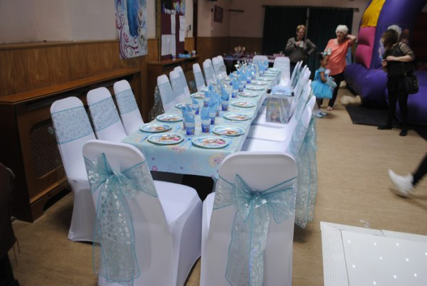 Chair covers & Snowflake sashes