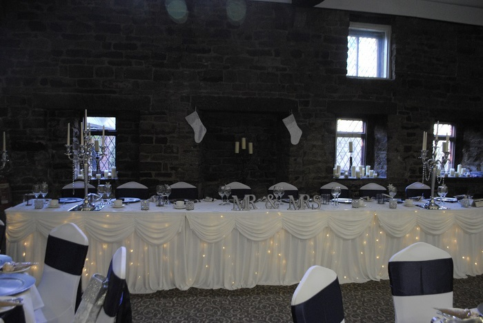 Twinkle top table skirt hire