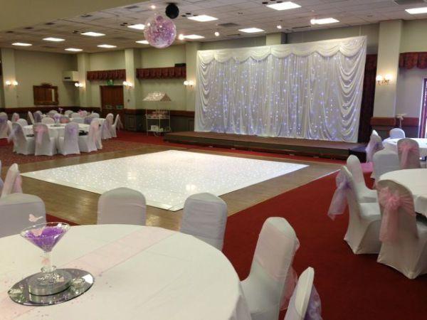 White Twinkle dance floor