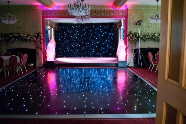 Black Twinkle dance floor