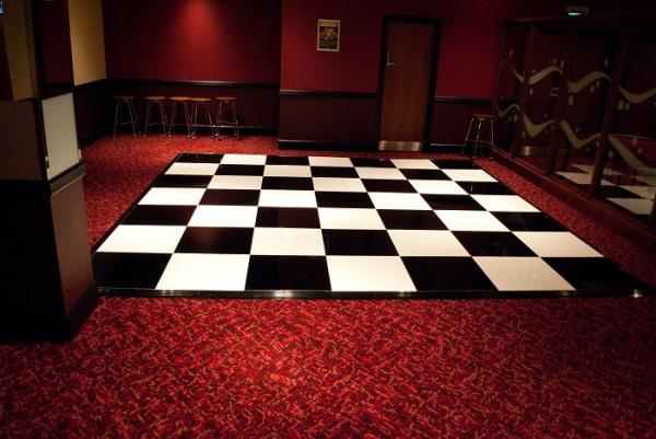 Black & white chequer dance floor