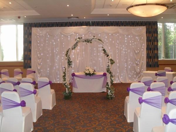 Twinkle arch for ceremony hire