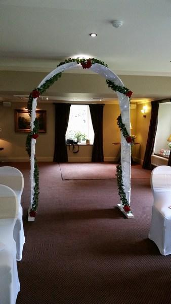 Twinkle floral arch hire