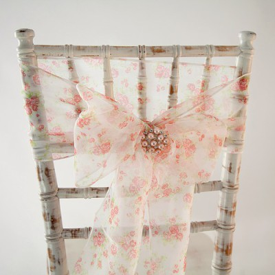 Floral chair cover sash hire